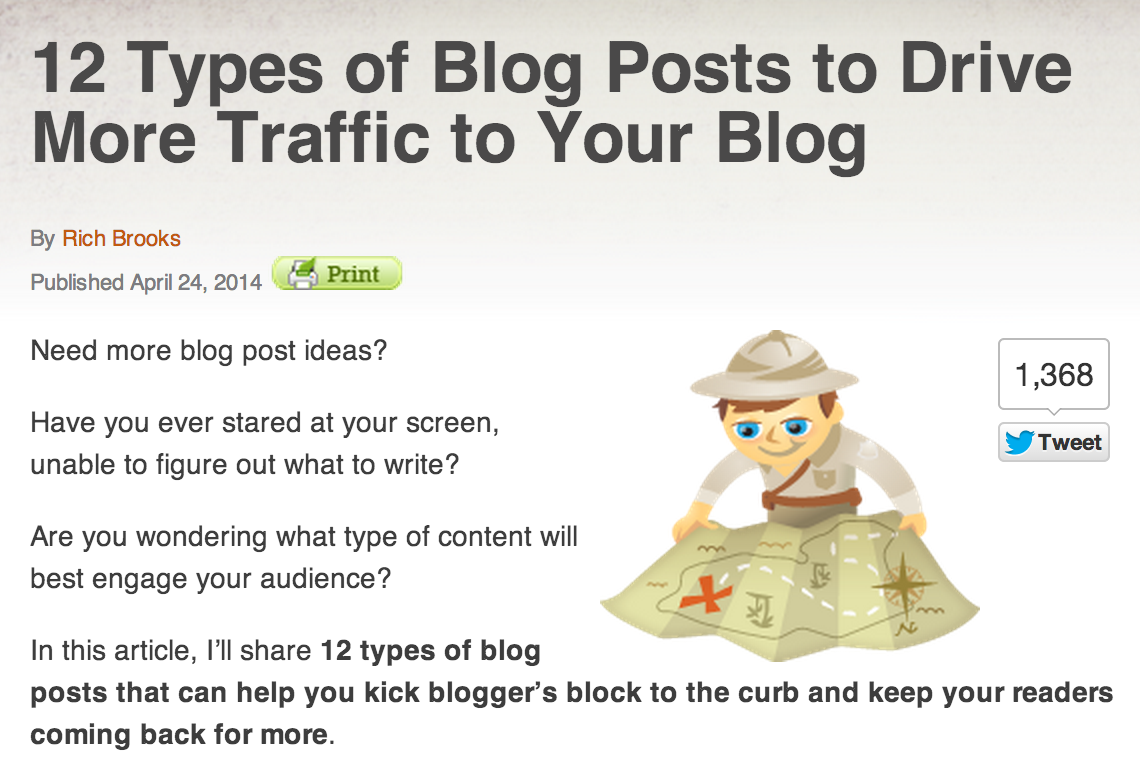 12 Types of Blog posts